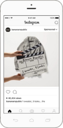 Instagram広告の掲載イメージ