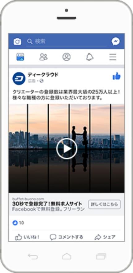Facebook広告の動画イメージ