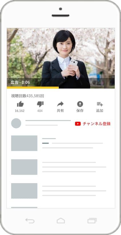 バンパー広告の掲載イメージ